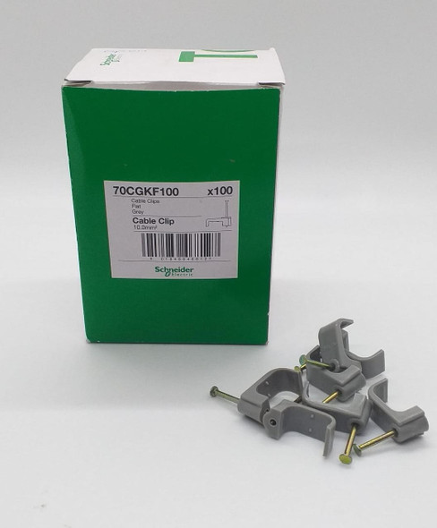CABLE TOWER CLIPS 10MM FLAT SCHNEIDER ELECTRIC GREEN BOX