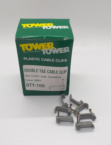 TOWER CABLE CLIP 2.5MM DOUBLE T&E GREEN BOX