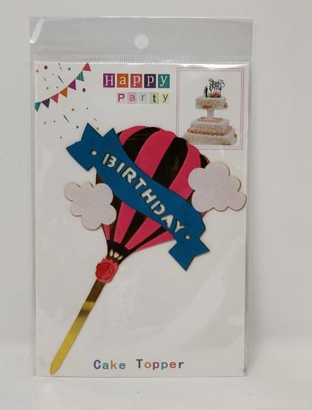 PARTY CAKE TOPPER HAPPY BIRTHDAY BALLOON YS7