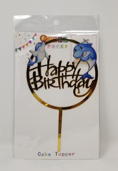 PARTY CAKE TOPPER HAPPY BIRTHDAY Shark YS5
