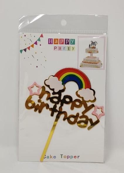 PARTY CAKE TOPPER HAPPY BIRTHDAY Rainbow YS11