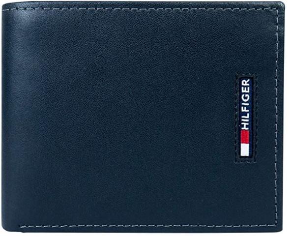 WALLET MEN Tommy Hilfiger Men's Leather Slim Bifold IN GIFT BOX