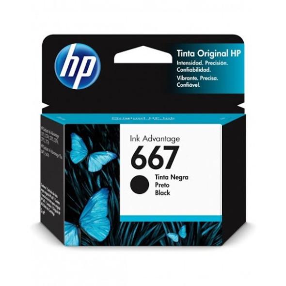 COMPUTER PRINTER INK HP 667 BLACK 3YM79AL
