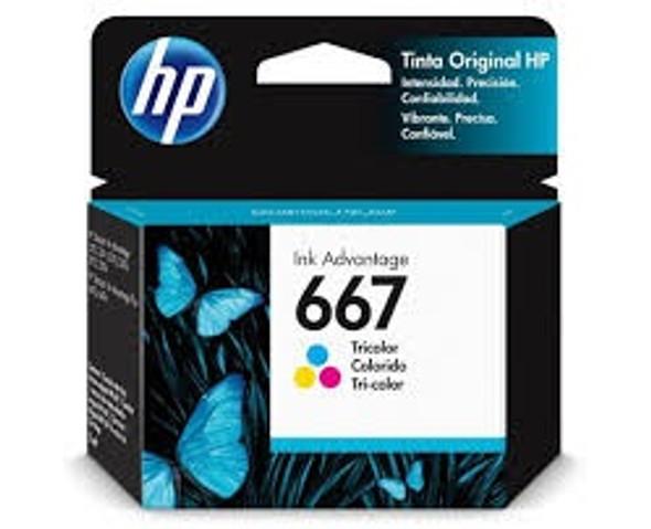 COMPUTER PRINTER INK HP 667 TRI-COLOR 3YM78AL