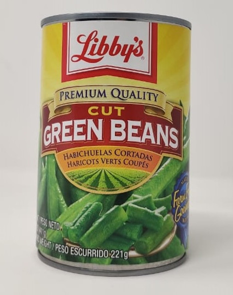 LIBBY'S CUT GREEN BEANS 14.5oz 411g
