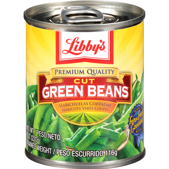 LIBBY'S CUT GREEN BEANS 8oz 227g