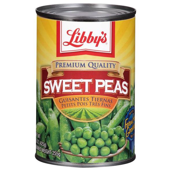 LIBBY'S SWEET PEAS 15oz 425g