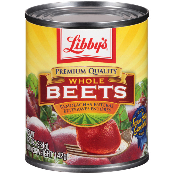 LIBBY'S WHOLE BEETS 8.25oz 234g