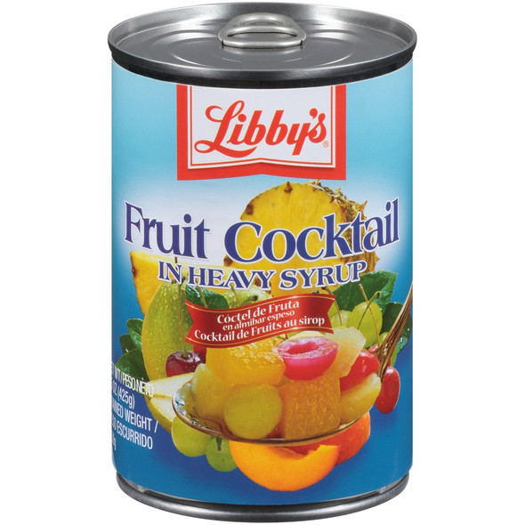 LIBBY'S FRUIT COCKTAIL IN HEAVY SYRUP 15oz 425g