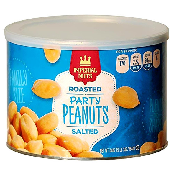 IMPERIAL NUTS ROASTED PEANUTS SALTED 9oz 255g