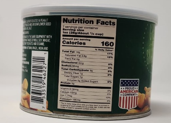 IMPERIAL NUTS ROASTED CASHEWS HALVES & PIECES SALTED 7oz 198g