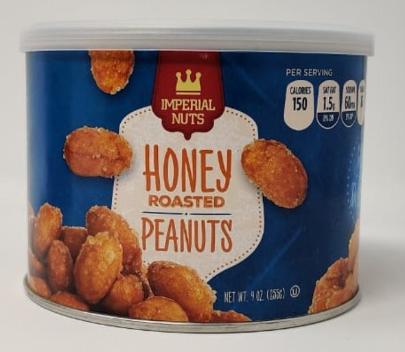 IMPERIAL NUTS HONEY ROASTED PEANUTS 9oz 255g