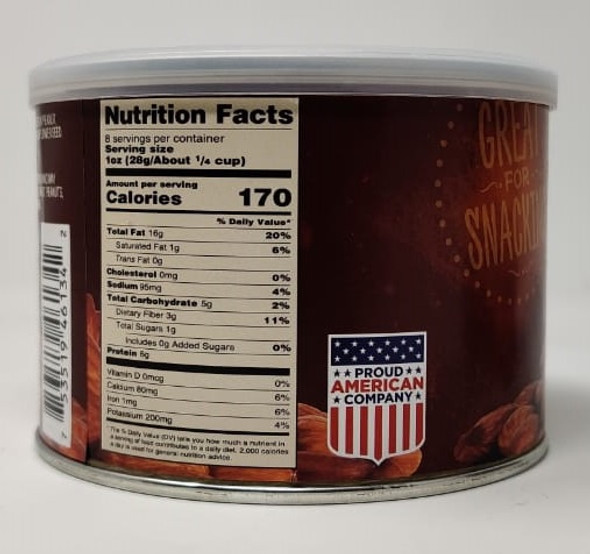 IMPERIAL NUTS ROASTED ALMONDS SALTED 8oz 227g