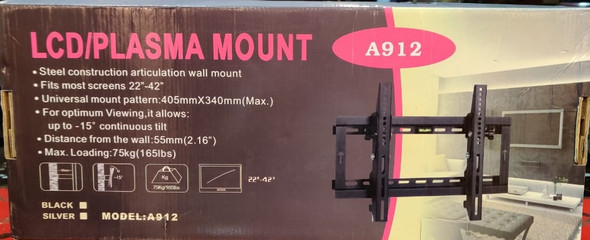 "TV WALL BRACKET 22""-42"" LCD/PLASMA A912 MOUNT"