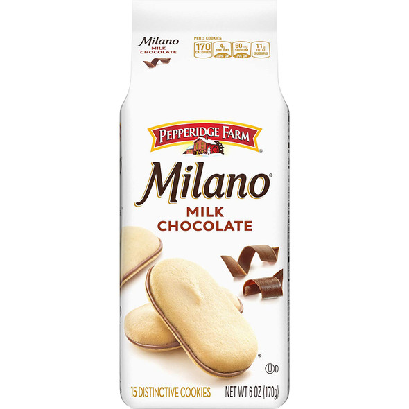 PEPPERIDGE FARM MILANO MILK CHOCOLATE 6oz 170g