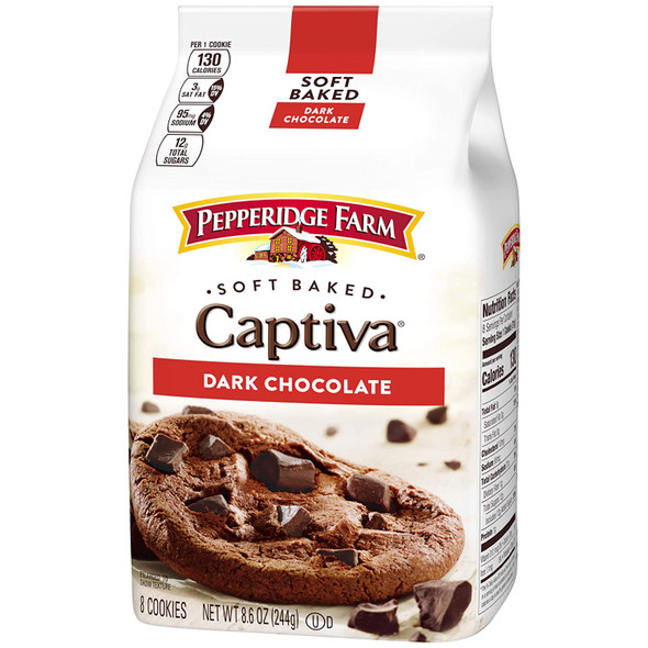 PEPPERIDGE FARM CAPTIVA DARK CHOCOLATE SOFT BAKED 8.6oz 244g
