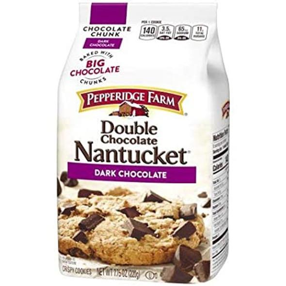 PEPPERIDGE FARM DOUBLE CHOCOLATE NANTUCKET DARK CHOCOLATE 7.75oz 220g