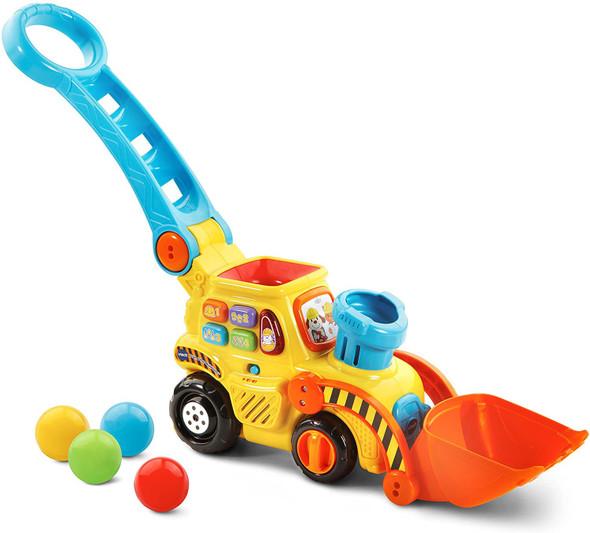 Toy VTech Pop-a-Balls Push & Pop Bulldozer, Yellow