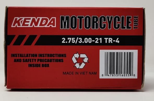 M/CYCLE TUBES 275/300 X 21 KENDA TR-4 2.75/3.00-21