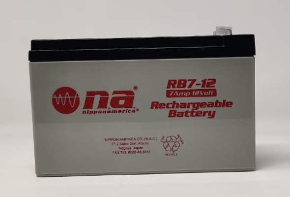 BATTERY RECHARGEABLE 12V RB7-12 NIPPON AMERICA