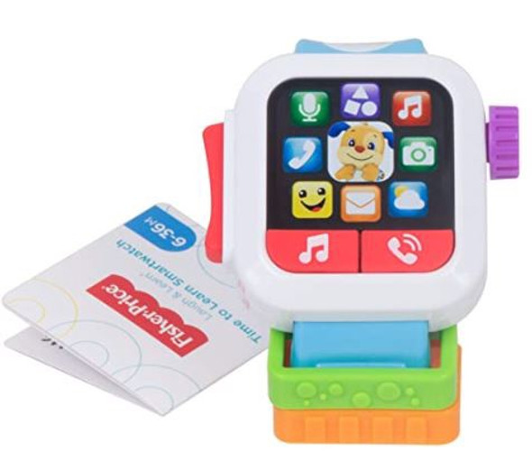 Toy Fisher-Price GJW17 Laugh & Learn Time to Learn Smartwatch, Musical Baby Toy, Multicolor