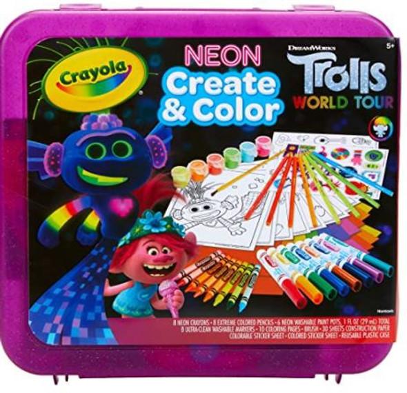Toy Crayola Trolls World Tour, Neon Create & Color Art Set