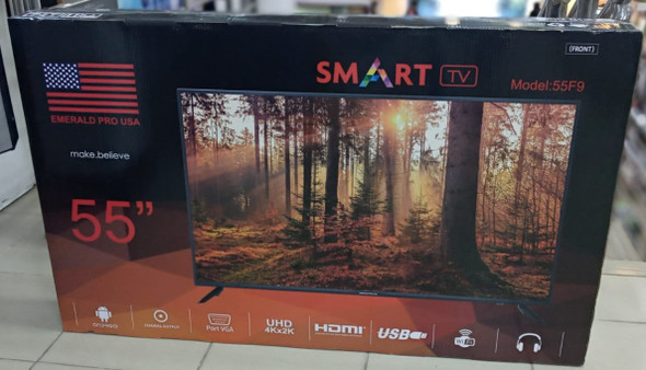 "TELEVISION EMERALD 55"" 55F9 SMART LED"