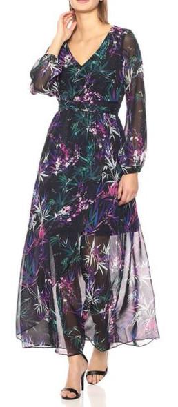 Dress  Floral long sleeve Black Nine West