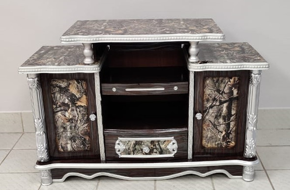 TV STAND WOOD WITH CUPBOARD 908