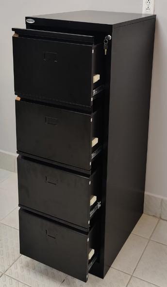 OFFICE CABINET FILING VERTICAL 4 DRAWER CENTRAL 64013 BLACK
