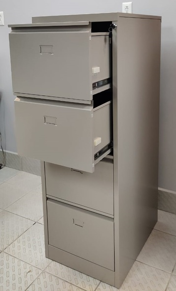 OFFICE CABINET FILING VERTICAL 4 DRAWER CENTRAL 64012 BEIGE