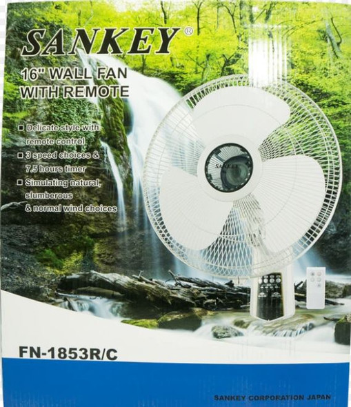 "FAN 16"" WALL SANKEY FN-1853R/C WITH REMOTE 110V"