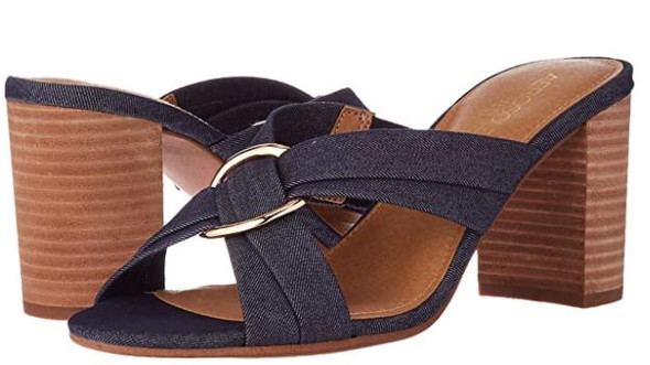 Footwear Aerosoles Women's Highwater Heeled Sandal Denim