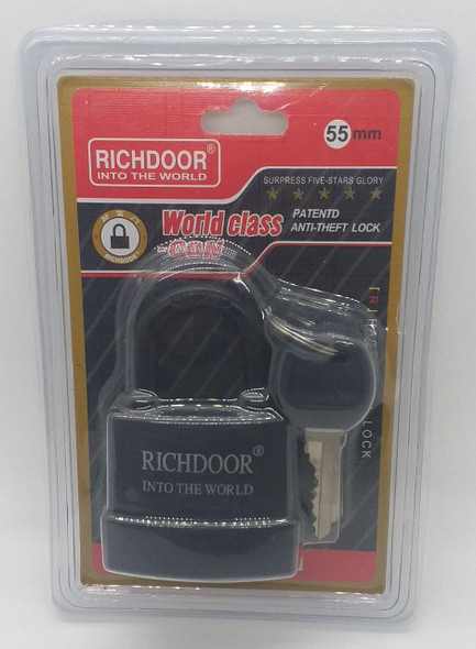 PADLOCK 55MM RICHDOOR SHORT SHACKLE WEATHERPROOF