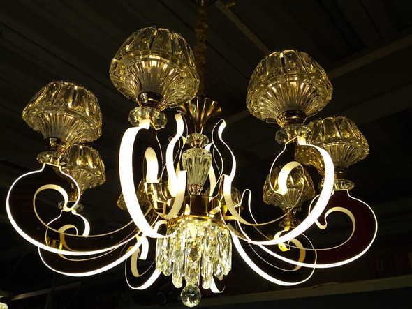 CHANDELIER LED 69008-8C with REMOTE CONTROL