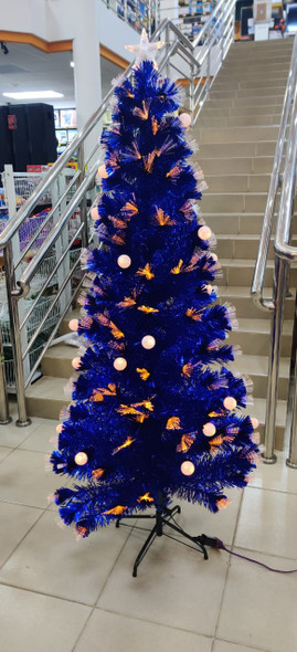 Christmas Decorations Tree Blue With led lights FA007 6ft