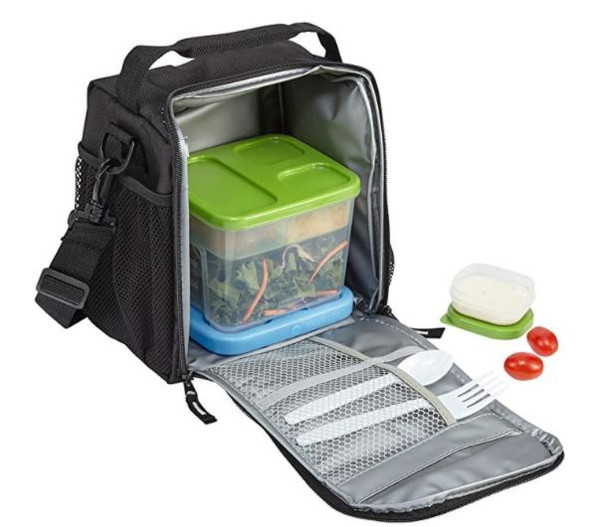 LUNCH BAG Rubbermaid Black Small