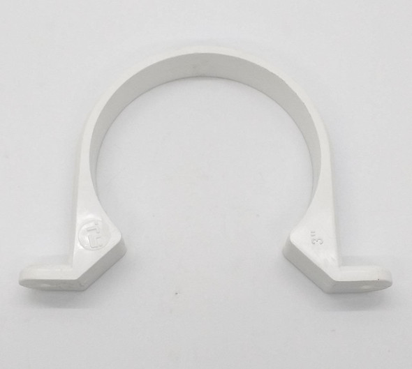 "PVC PIPE STRAP 3"" WHITE HEAVY IMPORTED"