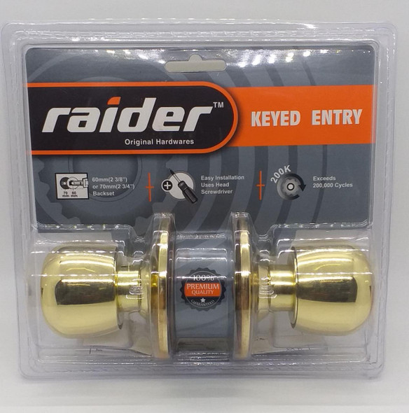 LOCK KNOB RAIDER PB KEYED #3481 PB-ML-ET
