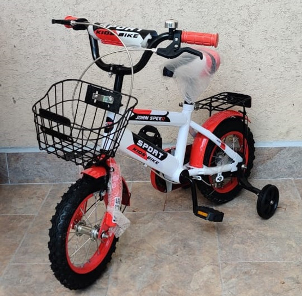 "BICYCLE 12"" 03A SPORT W/BASKET & CARRIER RED"