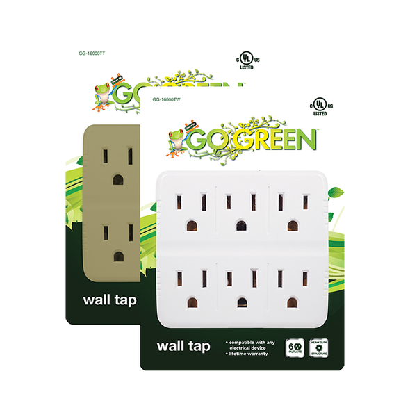 ADAPTOR 6 OUTLET GOGREEN GG-16000TW WALL TAP