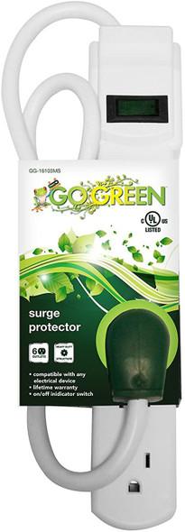 SURGE PROTECTOR GO GREEN GG-16103MS WHITE