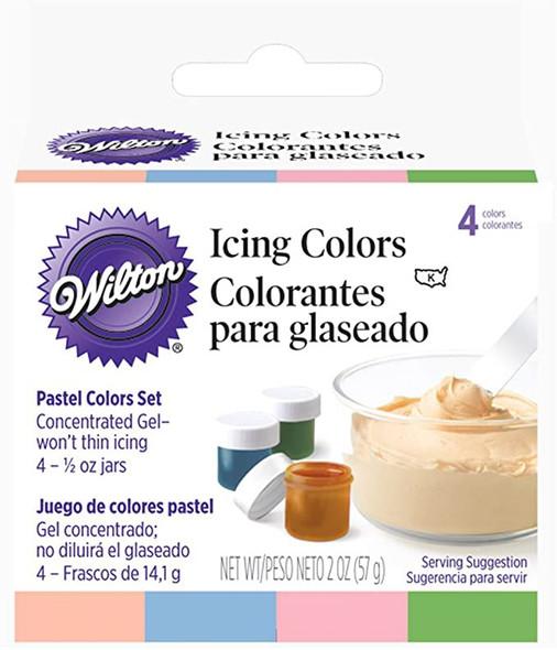 BAKING WILTON ICING COLORS Pastel 4PCS 2oz 56g 601-25588