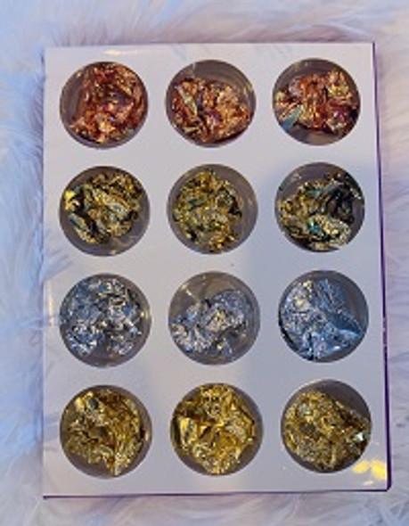 Nail Art Foil Metallic flakes