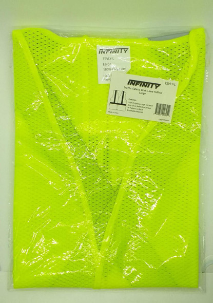 SAFETY VEST INFINITY LIME YELLOW LG #TSVLY-L