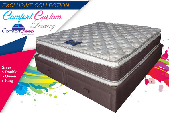 "MATTRESS DOUBLE COMFORTSLEEP COMFORT CUSTOM LUXURY 54"" X 74"" X 12"" BOTH SIDES PILLOW TOP"
