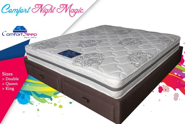 "MATTRESS DOUBLE COMFORTSLEEP COMFORT NIGHT MAGIC 54"" X 74"" X 9"""