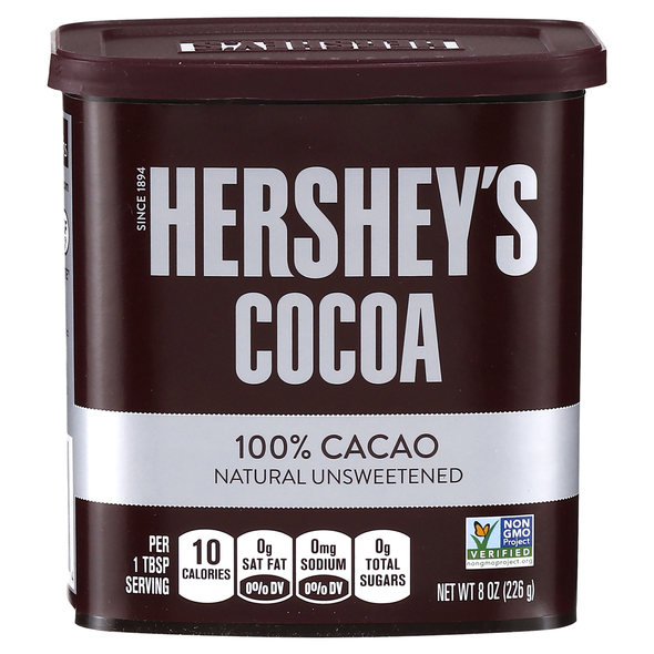 HERSHEY'S COCOA 100% CACAO NATURAL UNSWEETENED 8oz 226g