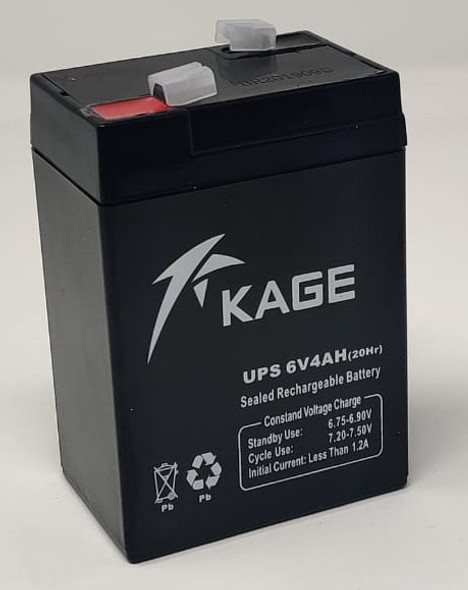 BATTERY RECHARGEABLE 6V 4AH KAGE