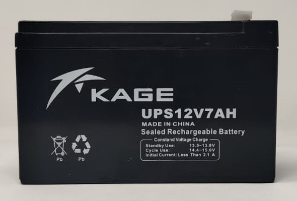 BATTERY RECHARGEABLE 12V 7AH KAGE UPS12V7AH